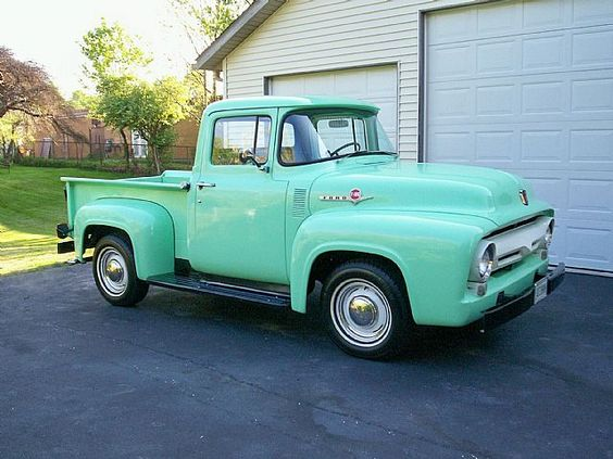1956 Ford F100 - oohh....Wayne would have liked this!  It reminds me of his old yellow pickup he had years ago.
