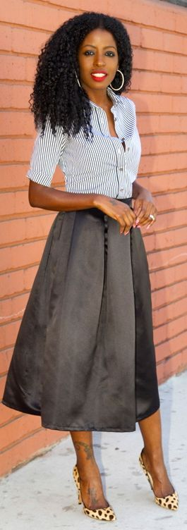 Shoxie Black Box Pleat Midi Skirt by Style Pantry | Fashion ...