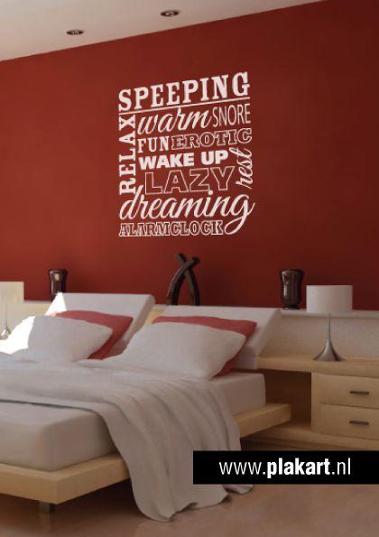 ...  muurtekst Sleeping slaapkamer - muur teksten/borden  Pinterest