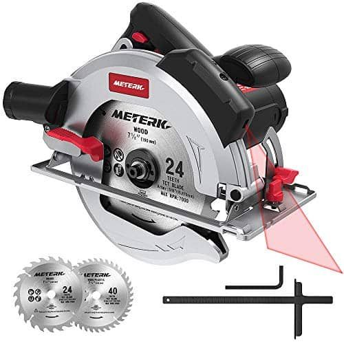 Meterk Mkcs01 7 1 2 Circular Saw With Laser Guide Best Price Price Comparison Review Luxuify Circular Saw Compact Circular Saw Cordless Circular Saw