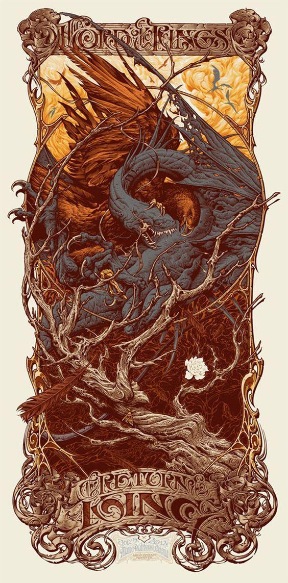 #myfantasyart lord-of-rings-poster-series-mondo-images