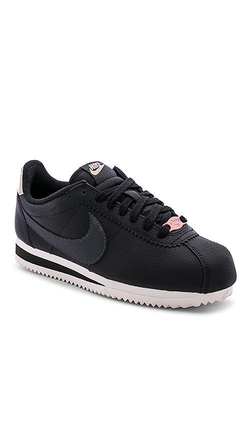 online store 52e38 cbcdd Classic Cortez Leather Sneaker in Black, Anthracite ...