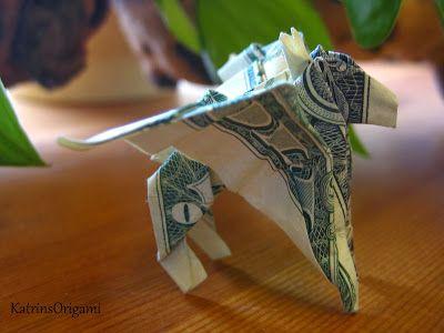 kleiner Pegasus aus einem Dollar gefaltet Design by Bo Gulledge