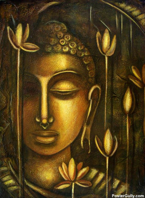 Buy Canvas Paintings and Modern Art Online | Lord Buddha Artwork | PosterGully: