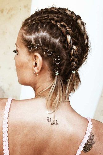 Charming Braided Hairstyles For Short Hair ★