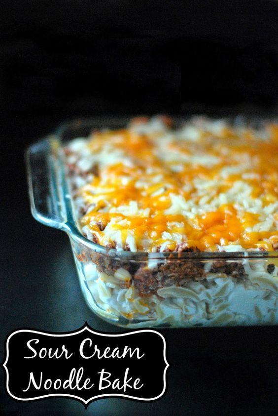 Sour Cream Noodle Bake   Aunt Bee's Recipes
