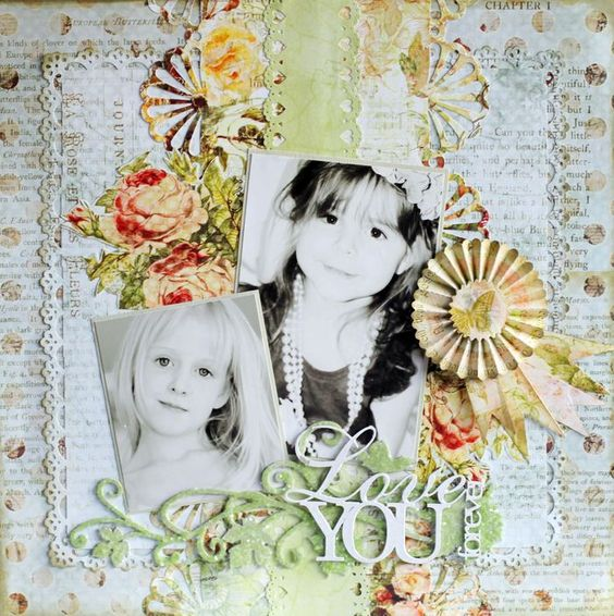 Layout by Steph Devlin using the Butterfly Garden Collection (Gypsy Chick for Pink Paislee).