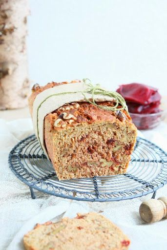 Rye Spelt Bread with Beetroot and Walnuts