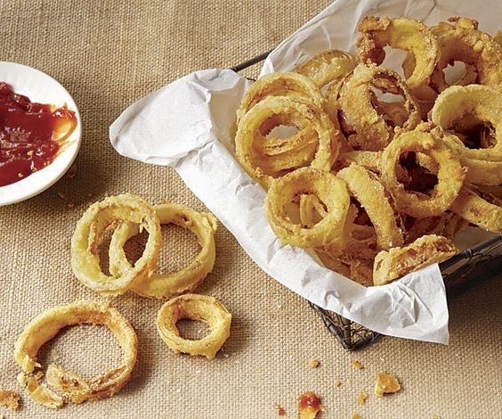 Barbecue Buttermilk Onion Rings Recipe — Dishmaps