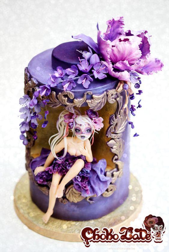 Dia de los Muertos - Sugar Skull Bakers 2014 - Cake by ChokoLate