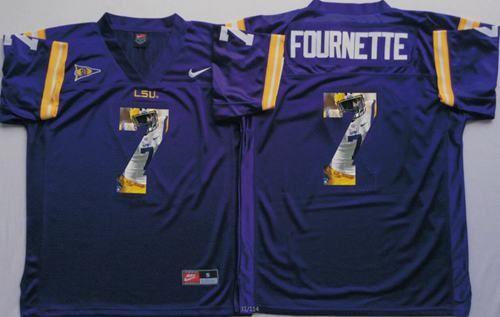 ... LSU Tigers 7 Leonard Fournette Purple Player Fashion Stitched NCAA Jersey  Mens Nike Leonard ... d5dac09c3