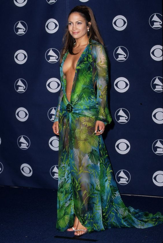 Pin for Later: The Most Talked-About Dresses of All Time Jennifer Lopez in Versace at the 2000 Grammy Awards
