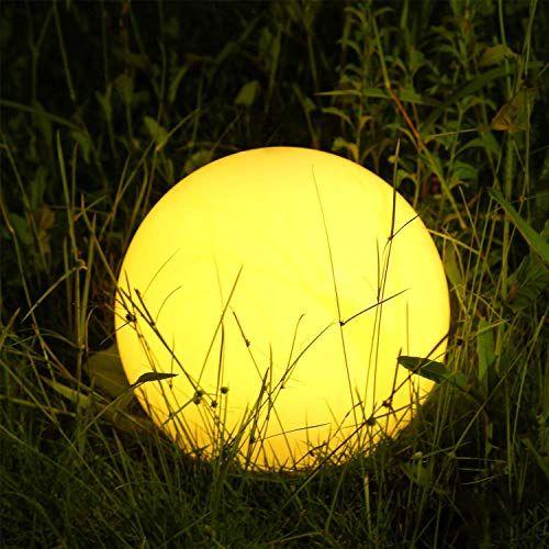 Albrillo Lampe Dambiance Boule Solaire Boule Led Lumineuse Ip68 Avec Telecommande 4 Mode De Changeante Et 12 Couleurs Rgb Reglable Lamp Paper Lamp Table Lamp
