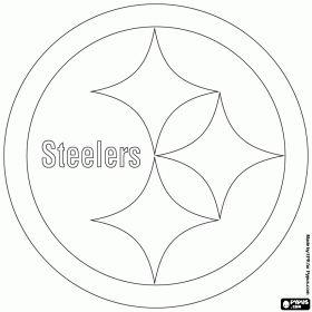 steelers football helmet coloring page - pittsburgh steelers logo american football team in the