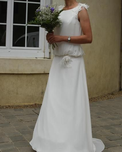robe de mariage bohme jupon 1 cerceau mlle ve pronuptia 2015 t3638 - Jupon Mariage 1 Cerceau