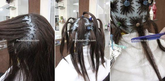 como fazer ombre hair na touca