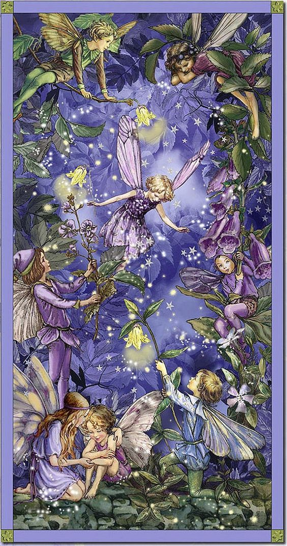 Lilac & Periwinkle Cottage •~• Foxglove Fairies