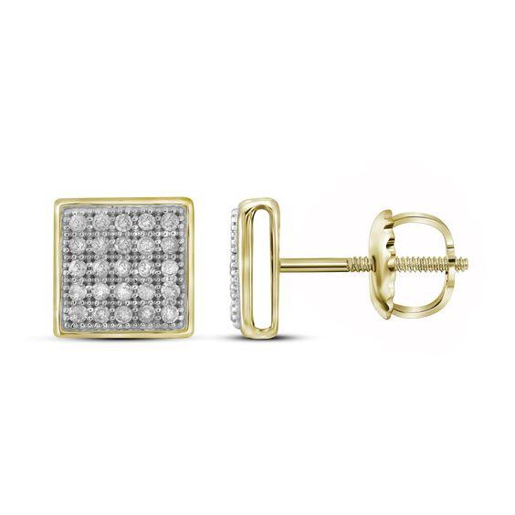 1/6CT-DIAMOND MICRO-PAVE EARRINGS