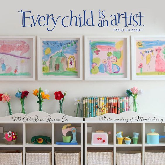 Every child is an artist - vinyl wall decal graphic: liked it so much that want it in my new house again