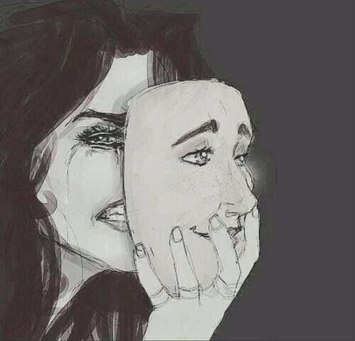 """""""Muitas vezes temos que nos esconder atrás de máscaras , não por ser falso mais sim pra evitar mais tristeza"""":"""
