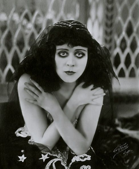 """Theda Bara, whose name was taken from the  words, """"death arab"""" the original goth girl."""