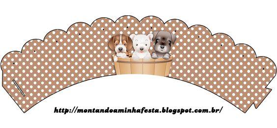 LARGE SET-- http://montandoaminhafesta.blogspot.com.br/2013/07/cachorrinhos-m.html