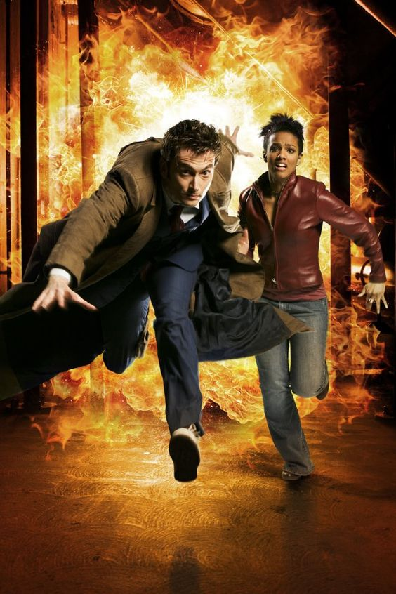 Still of David Tennant and Freema Agyeman in Doctor Who