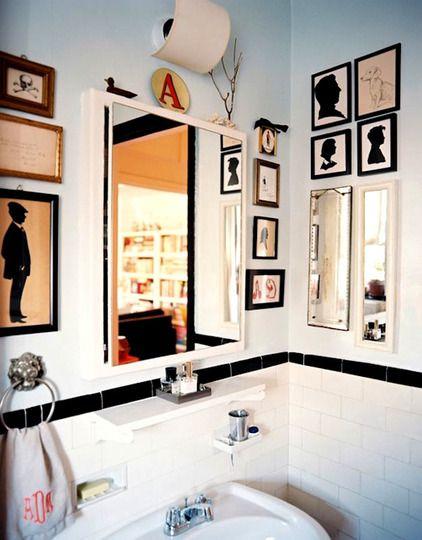 Modern Silhouettes - bathroom - black and white