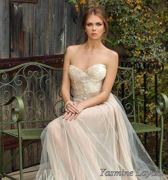 Schickes Brautkleid Boho Kleid Spitze Kleid Champagner Hochzeit Brautkleid Open zurück Brautkleid Wedding Dress Sexy Hochzeit dre