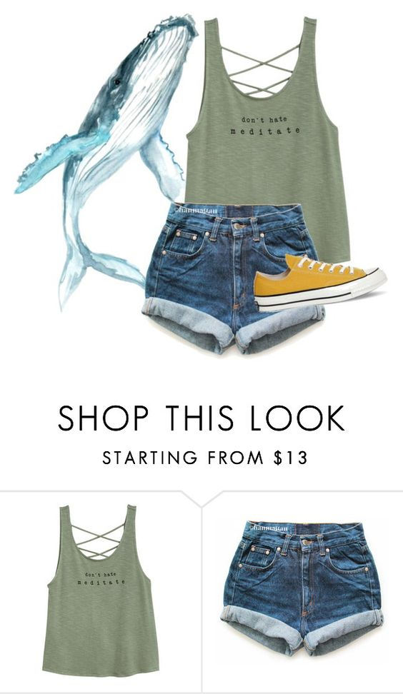 """""""The whale spirit animal"""" by starchildx ❤ liked on Polyvore featuring Levi's and Converse"""