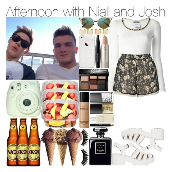 """""""Afternoon with Niall and Josh"""" by pilar-directioner99 ❤ liked on Polyvore featuring Moschino, Smashbox, Topshop, Fendi, Maison Margiela, MAKE UP FOR EVER, Ilia, Bare Escentuals, NARS Cosmetics and Boohoo"""
