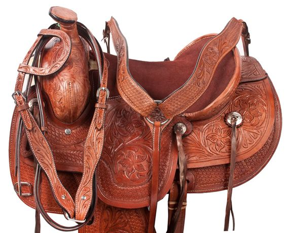 "NEW Ranch work saddle just came in and only $324.99! Available in sizes 15-17""."