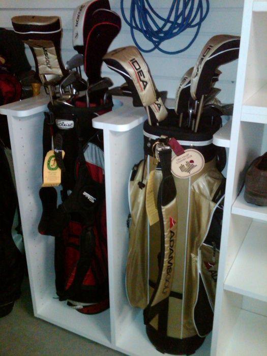 Golf clubs golf and california closets on pinterest for Closet world garage