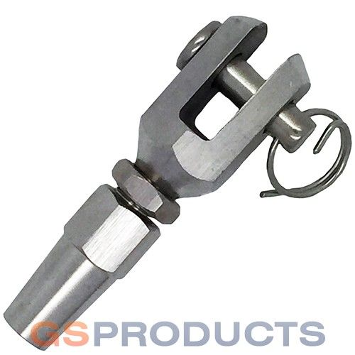 Stainless Steel Wire Rope Swageless Jaw Fork Terminals 3mm 4mm 5mm 6mm 8mm 10mm Stainless Steel Wire Steel Stainless Steel