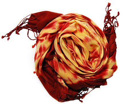 Amazon.com: Flaming Hot Tie Dye Pashmina Shawl/Wrap: Clothing