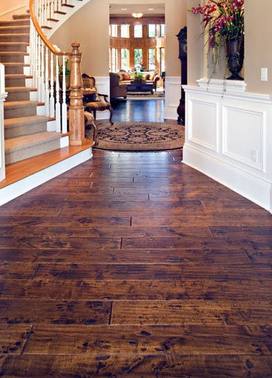 Hand-scraped birch wood floor - Beautiful Hardwood Floors and Warmth and Style   Precision Construction West