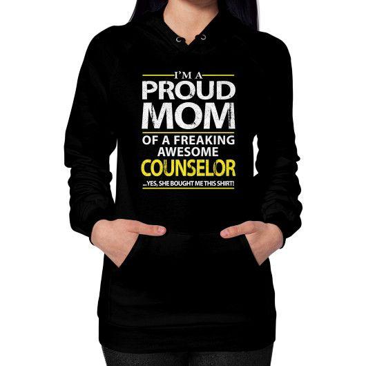 IM A PROUD MOM Hoodie (on woman)