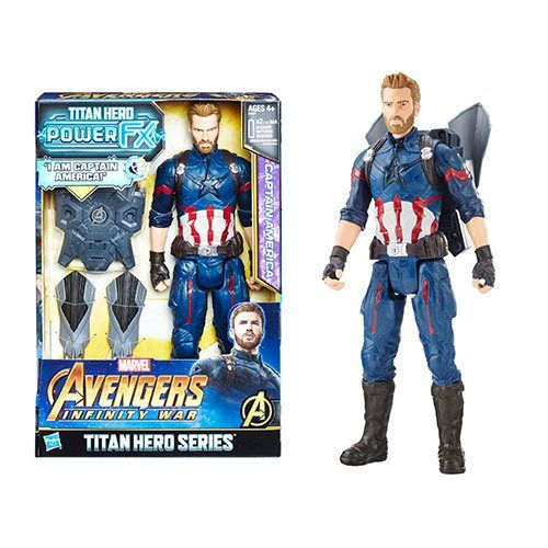 "Marvel Titan Hero Series Captain America Avengers Infinity War 12/"" Figure"