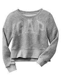 Shrunken marl arch logo sweatshirt