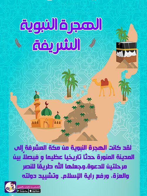 قصص سيدنا محمد قصة الهجرة النبوية للاطفال قصص السيرة النبوية للاطفال بتطبيق حكايات بالعربي Islamic Kids Activities Islam For Kids Kids Planner