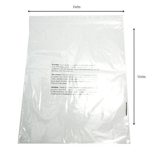Resealable Clear Poly Bags W Suffocation Warning 8 X 10 2mil Pack Of 100 500 Or 1000 Bags Check More At Https Getoff Poly Bags Personalized Items Bags