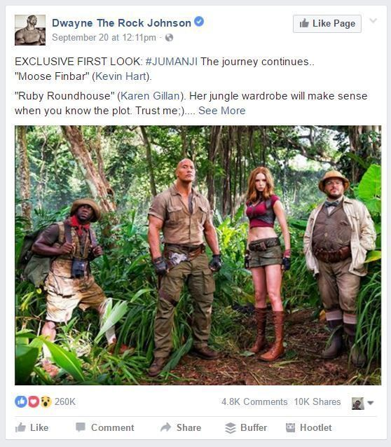 """If you weren't aware, a """"continuation"""" of the popular movie, Jumanji, is in the…"""