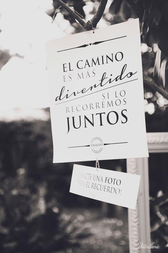 entrada al fotocall de una boda