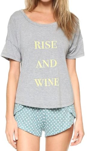 cute rise and wine night time shirt