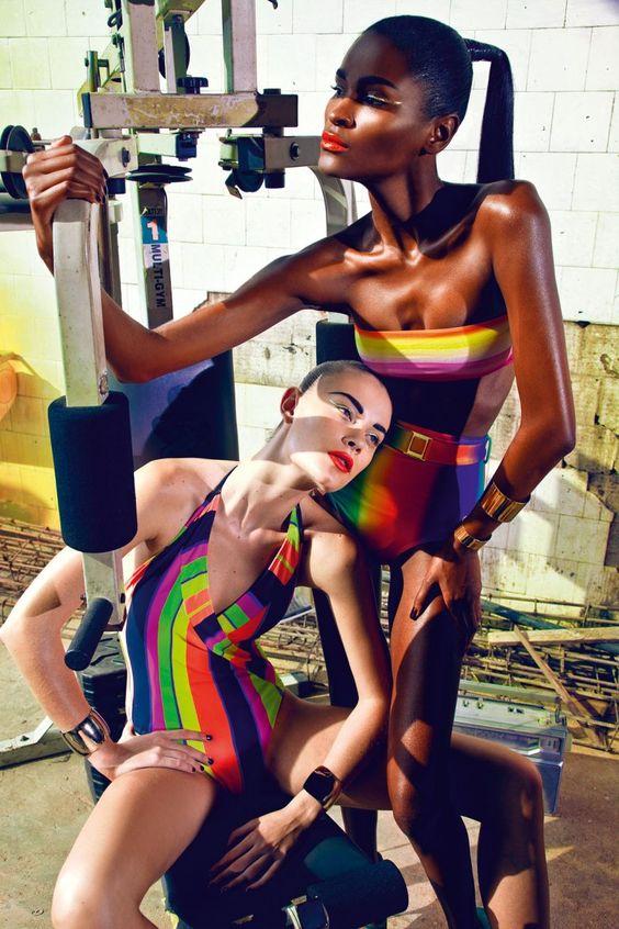 Carmelita Mendes & Barbara di Creddo by Manuel Nogueira for <em>Elle Brazil</em> November 2011