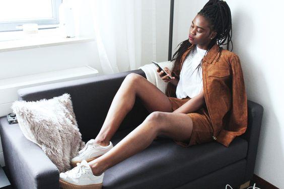 Vestethics | box braids | fashion blogger | fashion blog | woc fashion blogger | style | a -line skirt |