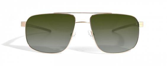 Götti Switzerland - Percy  Sonnenbrille aus Titanium mit patentierten 360°SPIN&STOW Brillenbügel. Maskuline, eckige Form. Nylon Degradé Gläser mit Rückflächen-Entspiegelung. 100% UV-Schutz.