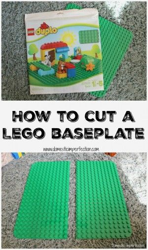 Simple way to cut a Lego baseplate