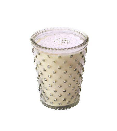 Nag Champa Hobnail Glass Candle