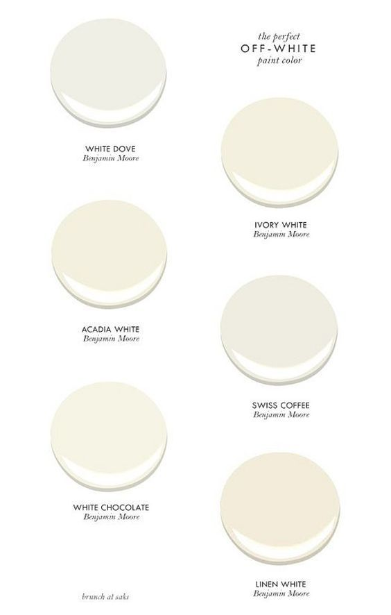 Best off-white paint colors by Benjamin Moore. #BenjaminMoore #Offwhite #Paintcolors Brunch at Sacks.: